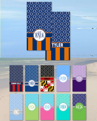 Lacrosse Monogram Beach Towels