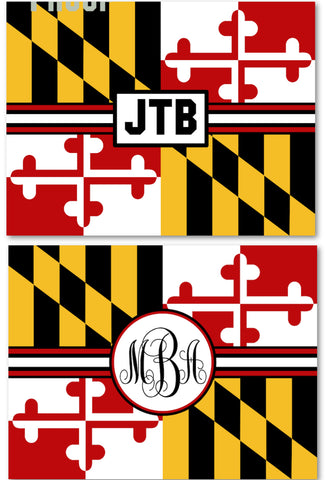 Maryland Monogram Fleece Blanket