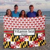 Maryland Crab Blanket