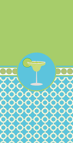 Margarita Beach Towel (Aqua & Lime)