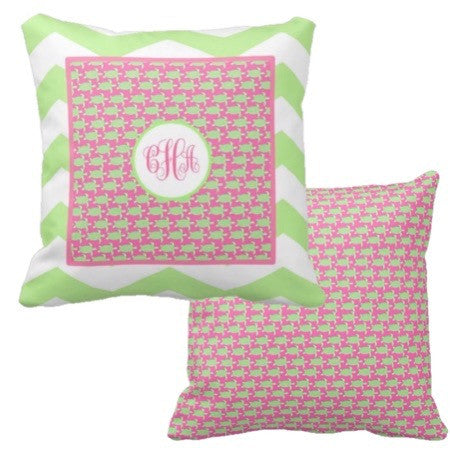 Monogram Turtle Pillows