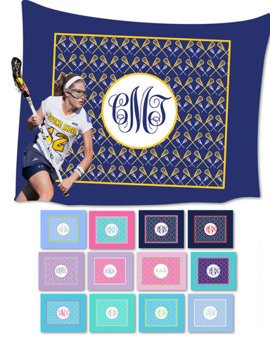 Lacrosse Monogram Fleece Blankets