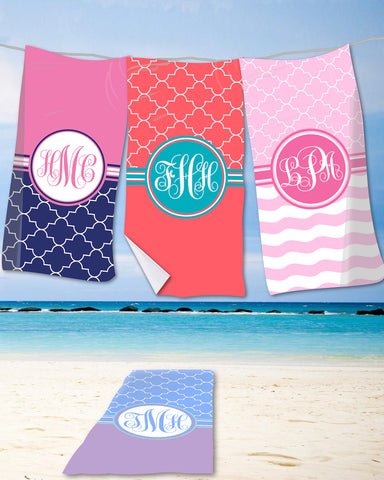 Moroccan Monogram Beach Towels