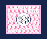 Ballet Monogram Fleece Blankets
