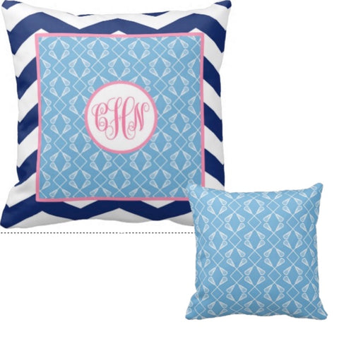 Lacrosse Monogram Pillows