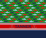 Fishing Custom Fleece Blankets