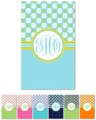 Pineapple Monogram Beach Towels
