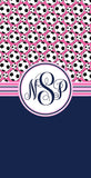 Soccer Monogram Beach Towels