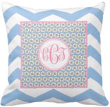 Sand Dollar Monogram Pillow