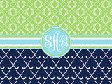 Multi-Sport:  Lacrosse & Field Hockey Monogram Fleece Blankets