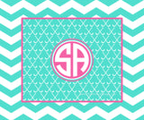 Field Hockey Monogram Fleece Blankets