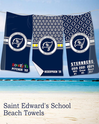 Saint Edward's School Beach Towel