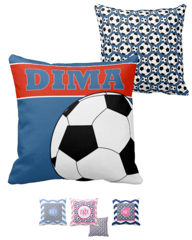 Soccer Monogram Pillows