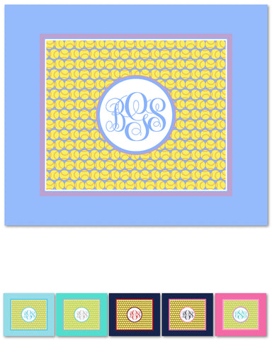 Softball Monogram Fleece Blankets