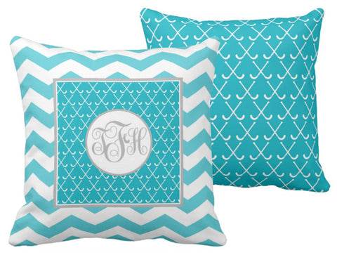 Field Hockey Monogram Pillows