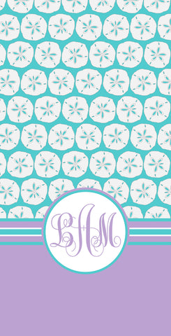 Sand Dollar Monogram Beach Towel