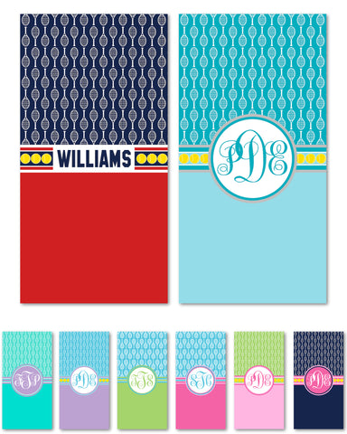 Tennis Monogram Beach Towels