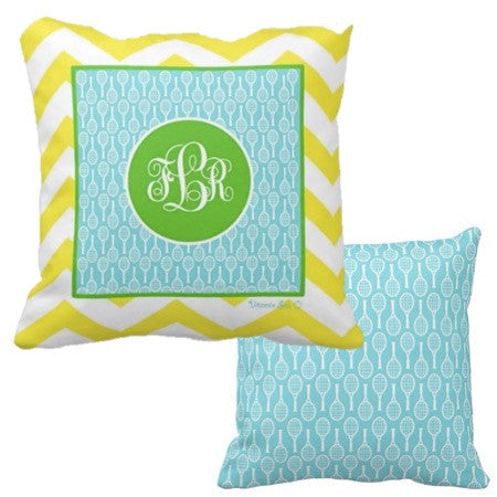 Tennis Monogram Pillows