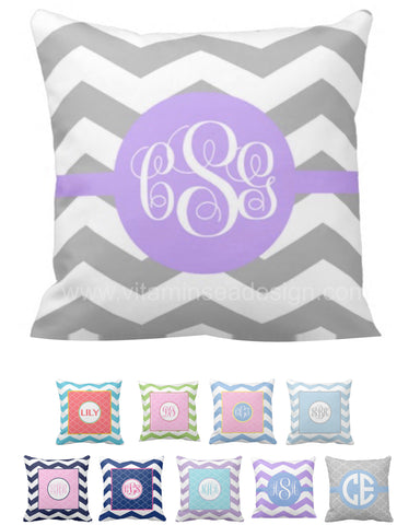 Chevron & Moroccan Monogram Pillows