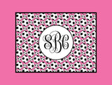 Soccer Monogram Fleece Blanket