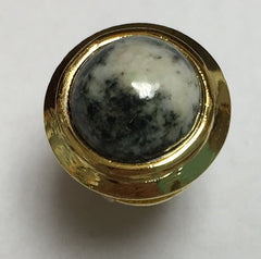 GOLD/Silver Domed Tip - Preseli Bluestone 11mm