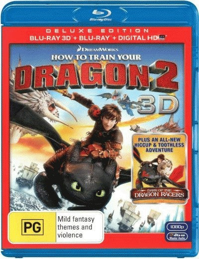 How To Train Your Dragon 2 (3D Blu-ray + Blu-ray + Ultra Violet)