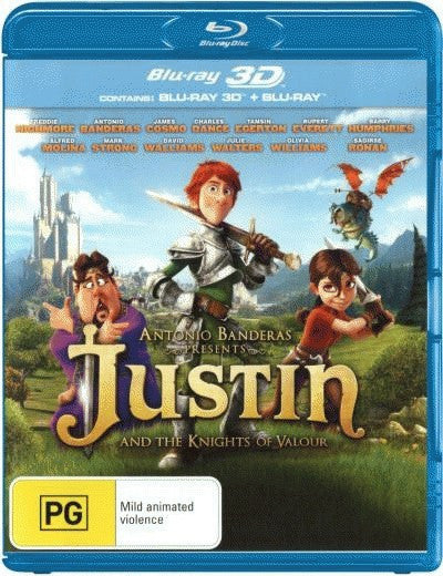 Justin and the Knights of Valour (3D Blu-Ray + Blu-Ray)