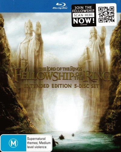 The Lord of the Rings: The Fellowship of the Ring (Extended Edition) (5 Disc Blu-Ray)