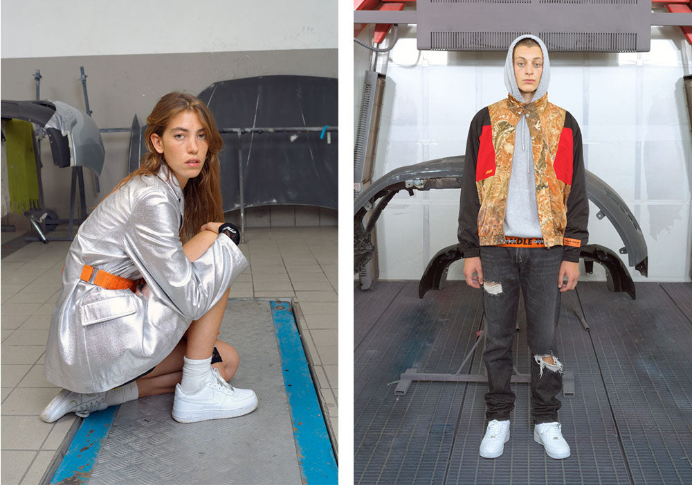 "0372e679 Get in the Heron Preston assembly line, as his Spring 2019 collection drops  in-store at Surrender. Titled ""En Vogue"", Preston's signature mechanical  and ..."