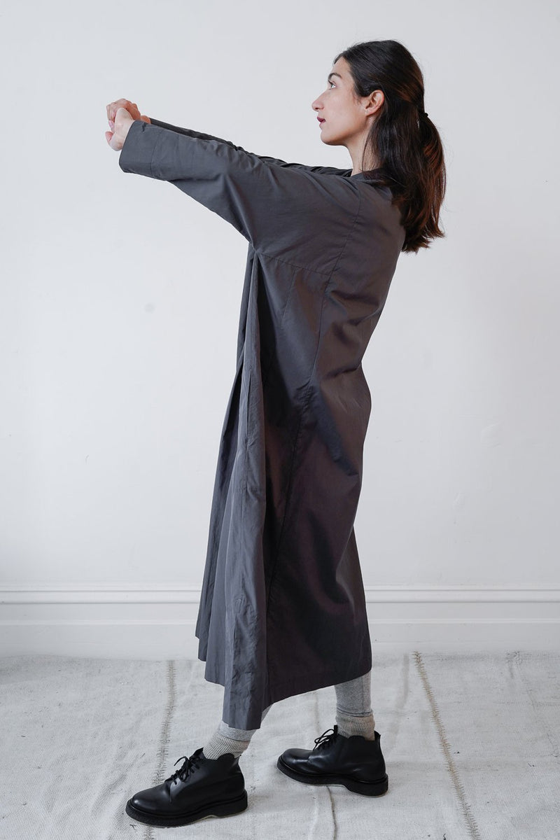 Arts & Science - Bulky Kurta Dress - cotton - Grey Navy Size 1