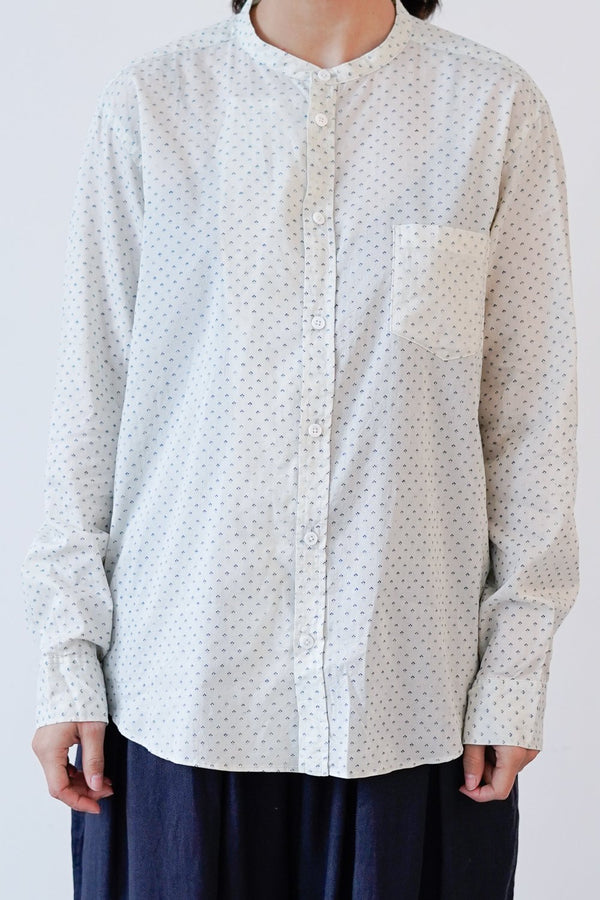 Arts & Science - No Collar Fake Shirt - ramie - 091U671023