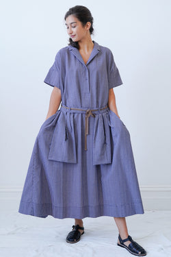 Ecole De Curiosites - Daisy Cotton Seersucker Dress