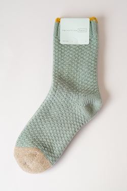 hansel from basel - Honeycomb Wool Crew - Seafoam