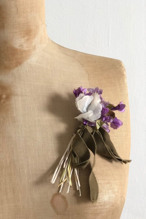 Gil Fox - Vintage corsage brooch - Purple bouquet