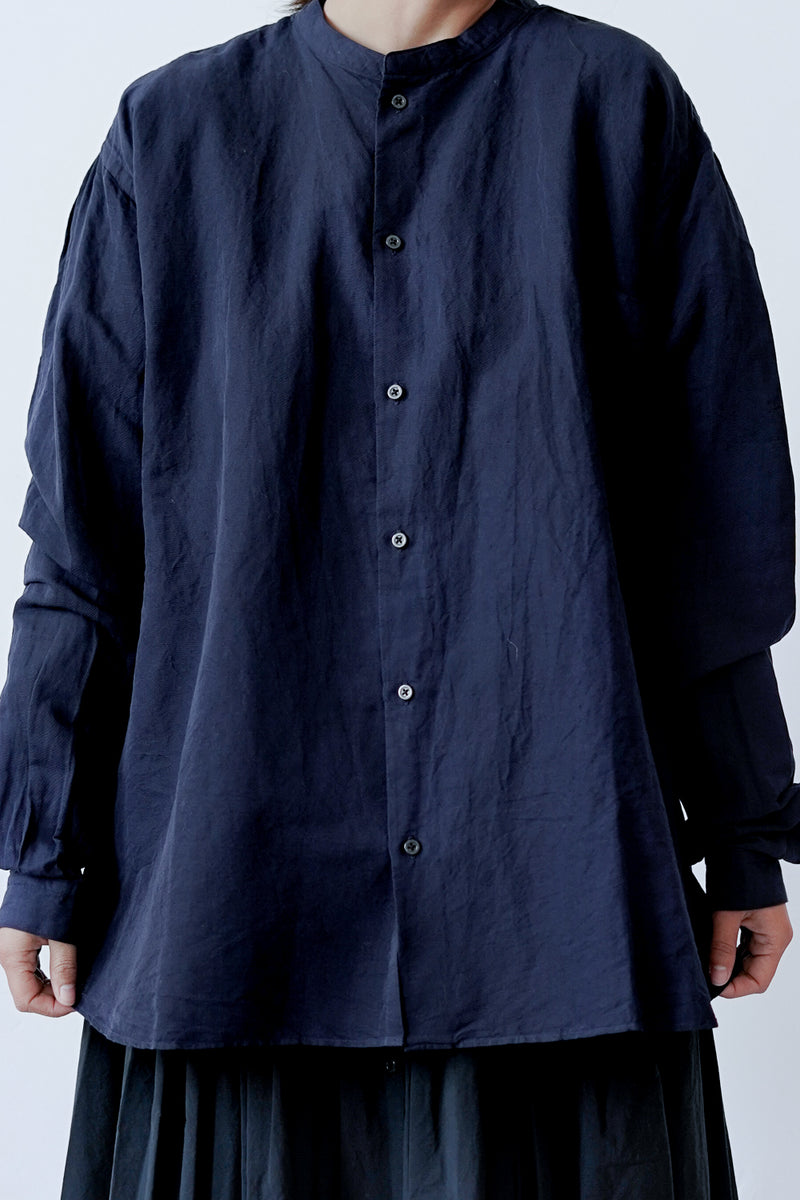 Kaval - Stand Collar Simple Shirt