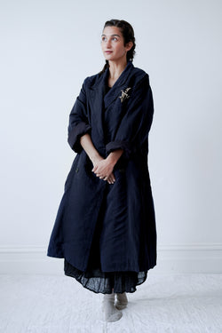 Kaval - Peaked Lapel Coat Double