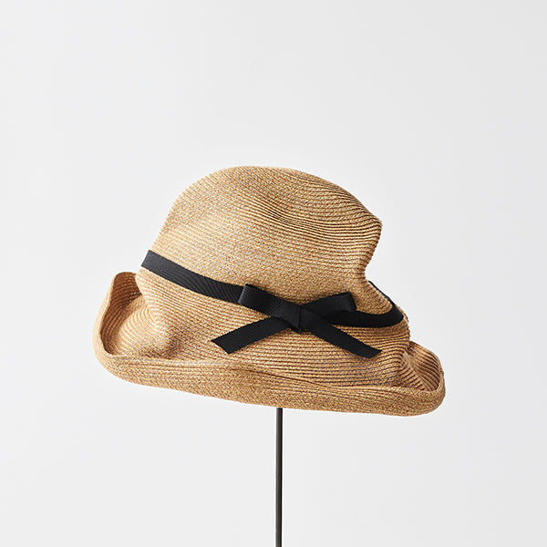 Mature Ha - Boxed Hat 11cm brim grosgrain ribbon