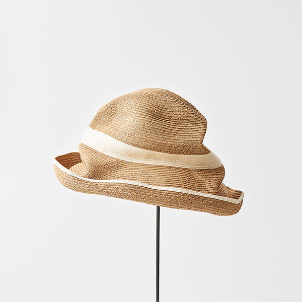 Mature Ha - Boxed Hat - Wide stripe  Brim and Crown