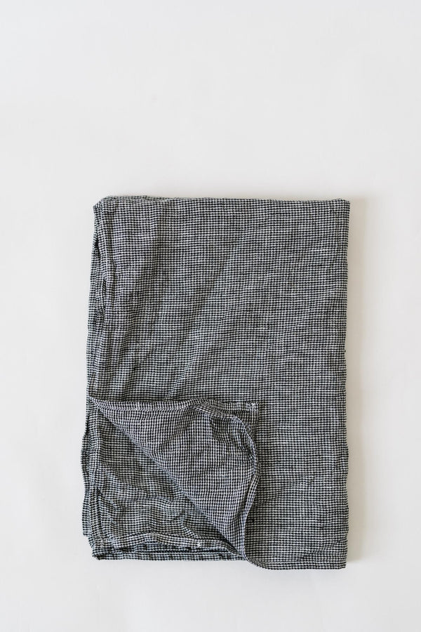 Metta - Tea Towel - Linen Houndstooth