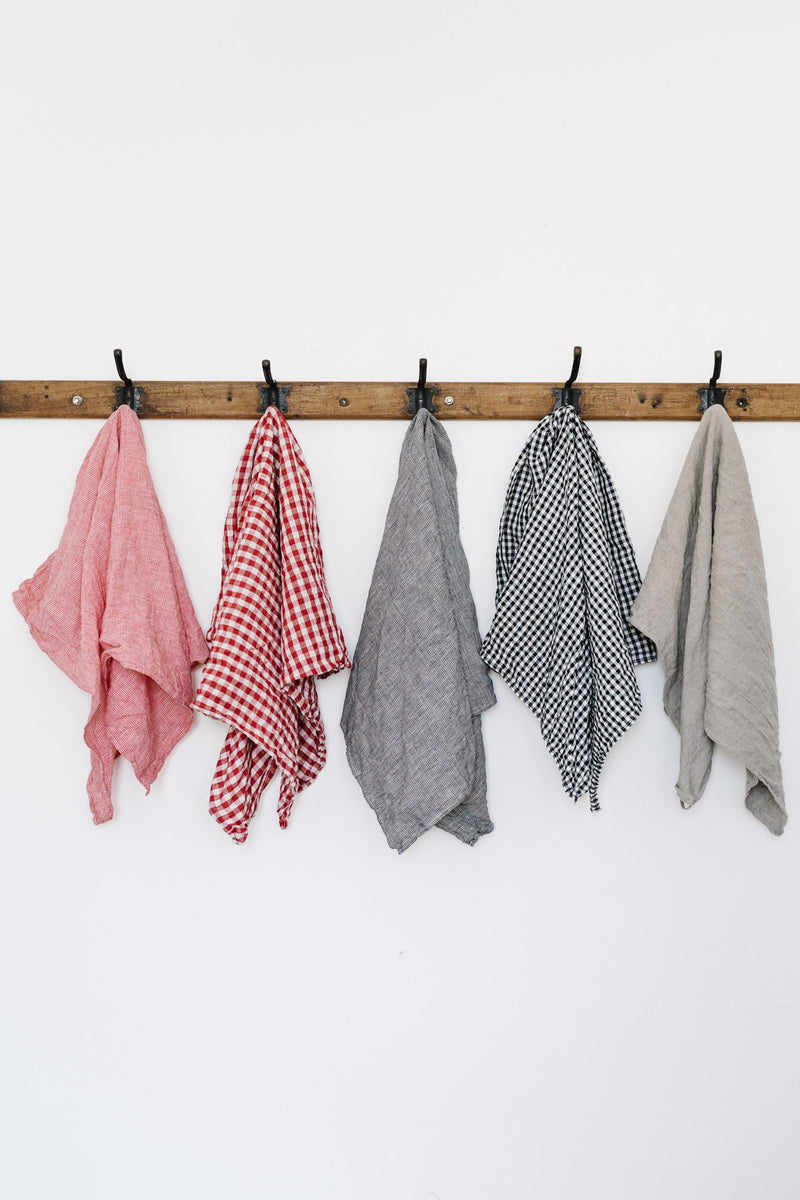 Metta - Tea Towel - Linen Check