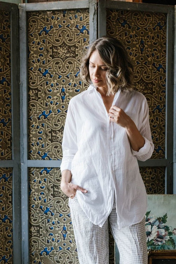 Metta - Iris Boyfriend Shirt - Cotton Voile