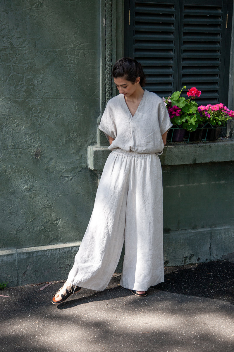 Metta - Carmen Wide Leg Pant - Light Weight Linen