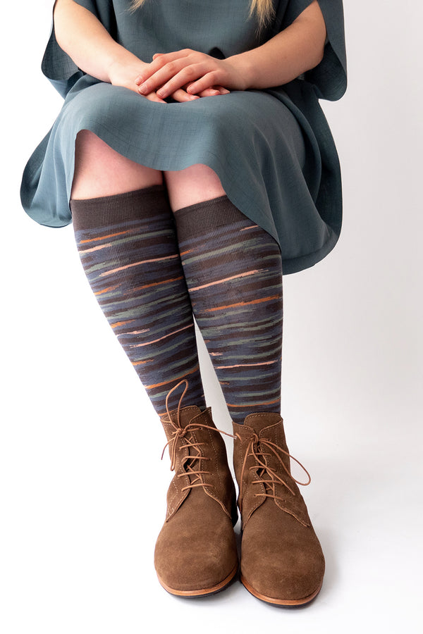 Bonne Maison Socks - PC110 - Knee high - Ikat