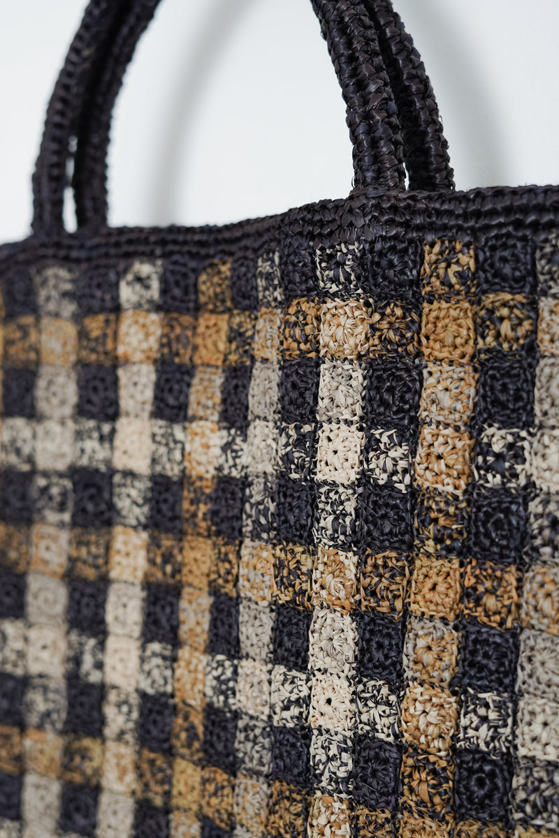 Sophie Digard - SO31-4439 ANTHRACITE xlarge crocheted raffia bag