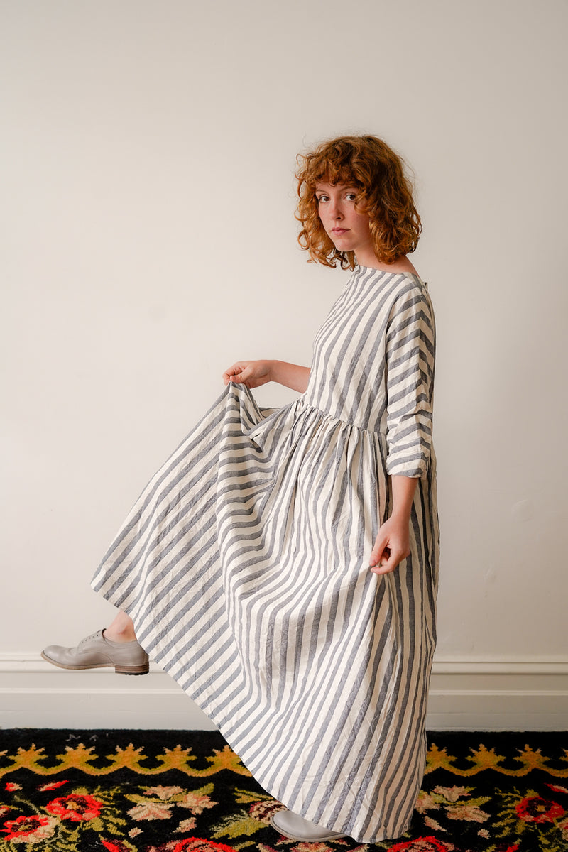Metta - Boating Dress - Cotton Stripe