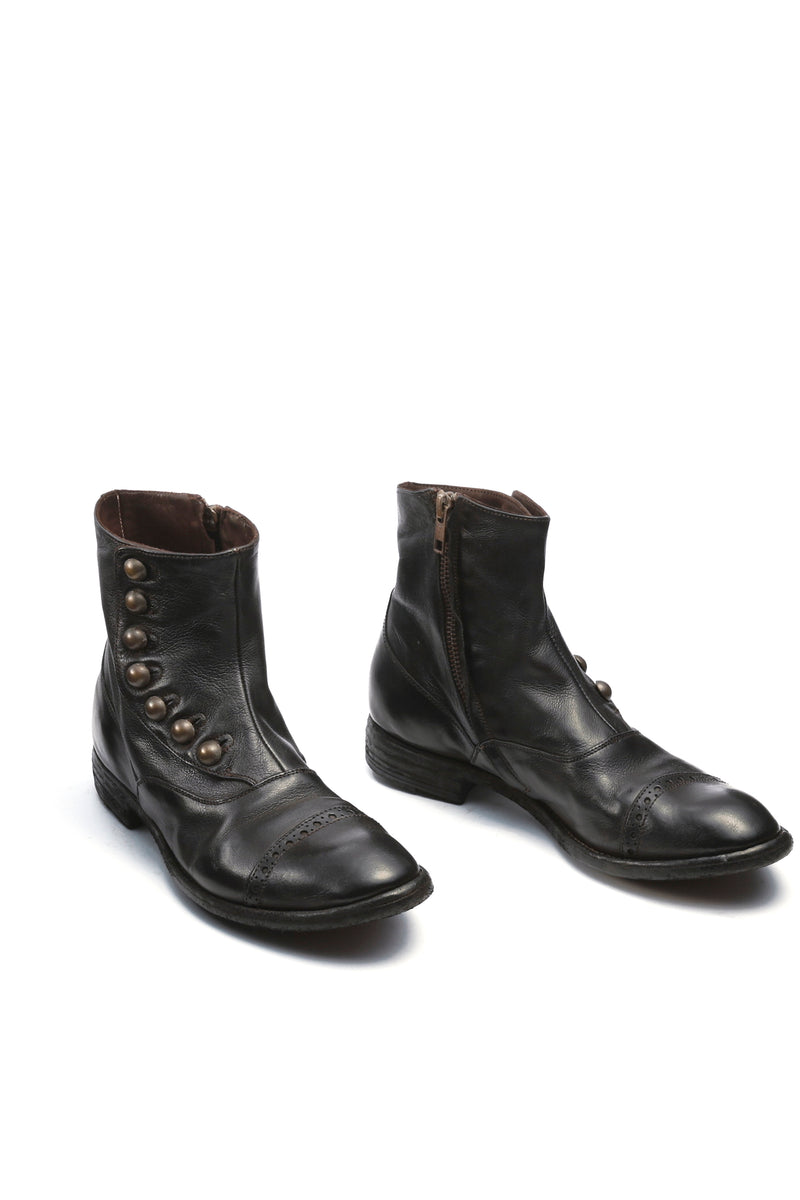 Officine Creative - Victorian Button Boot - Black