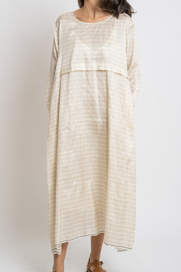 Runaway Bicycle - rbaw2043 EDNA silk dress Off white