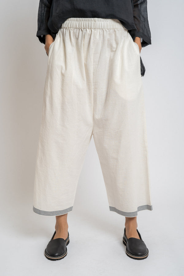 Runaway Bicycle - rbaw2058 JO cotton pants Off white