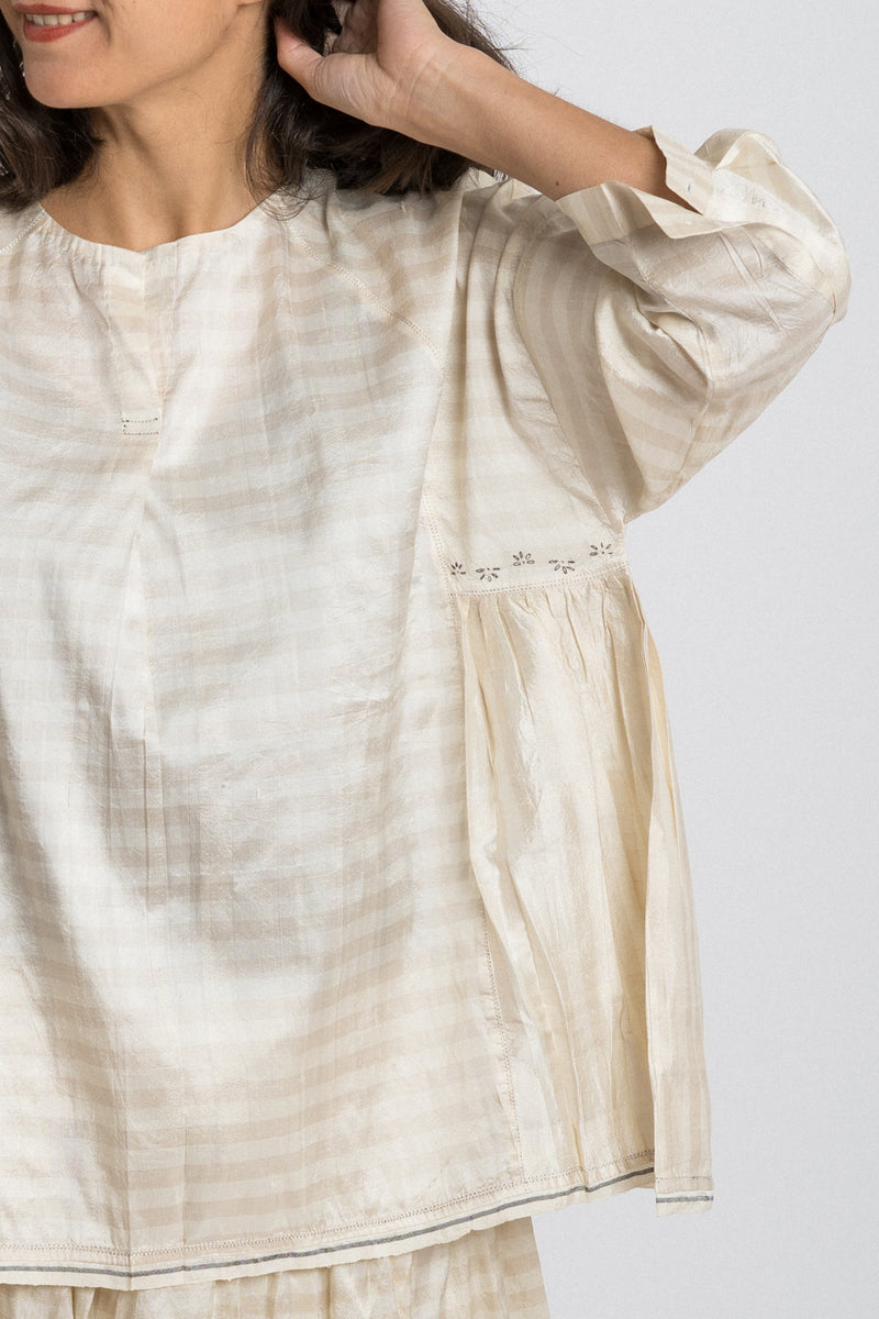 Runaway Bicycle - rbaw2042 DOROTHY silk top Off white