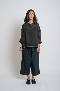 Runaway Bicycle - rbaw2042A DOROTHY silk top Black
